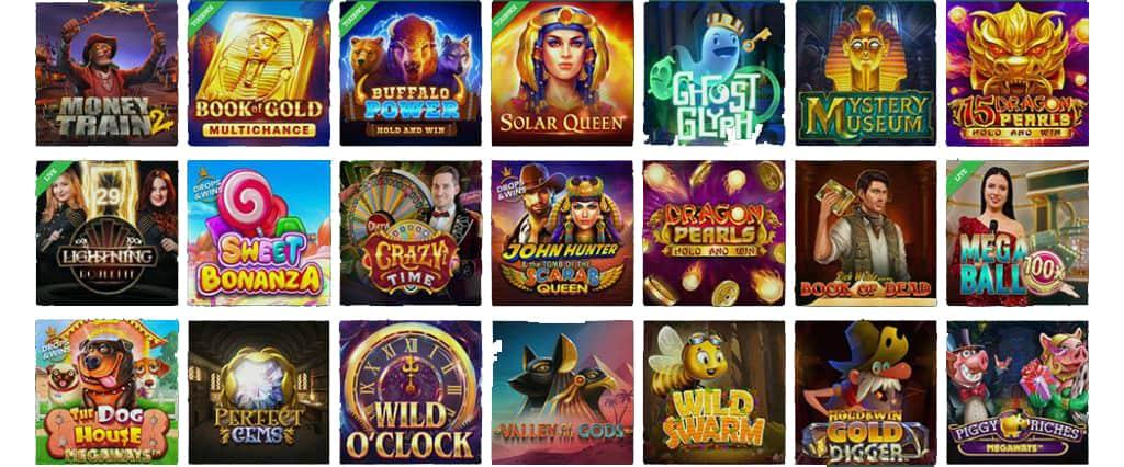 cresus types de jeux disponibles
